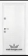 Блиндирана входна врата T-777, цвят Бял гланц